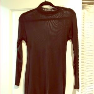 Mesh black Dress, needs black slip